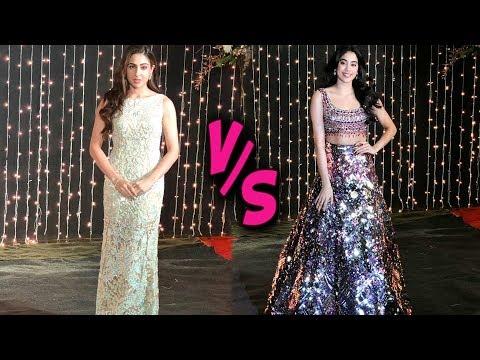Sara Ali Khan VS Janhvi Kapoor | Who Looked Best | Priyanka Nick Reception In Mumbai 2018