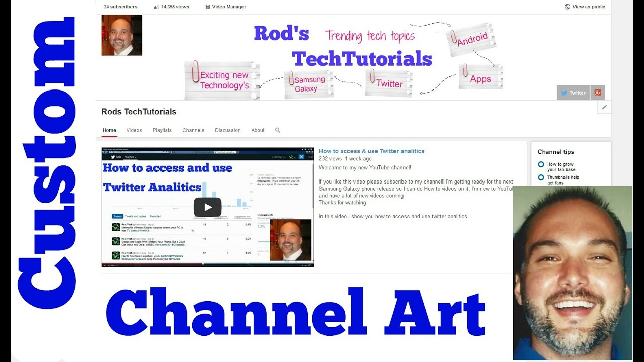 Creating youtube channel art youtube
