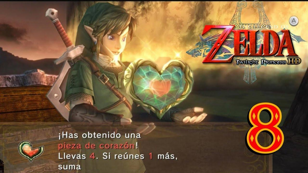 Zelda Twilight Princess Hd Modo Héroe 8 Piezas De Corazón A Saco
