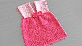 Şişle Örgü Bebek Elbisesi Yapımı