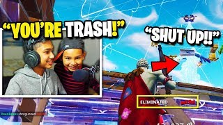 7 Year Old TRASH TALKS Angry Streamer after I beat him in a 1v1 BUILD BATTLE in Fortnite! (RAGE) thumbnail