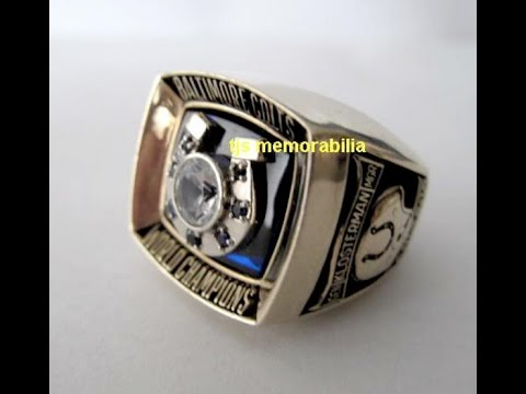 1970 BALTIMORE COLTS SUPER BOWL V CHAMPIONSHIP RING FOR SALE