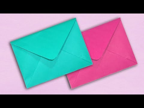 Paper Envelope Making Without Glue or Tape - DIY Easy [Origami Envelope]