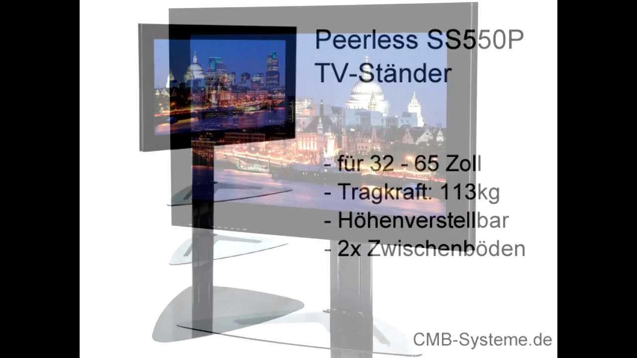 peerless ss550p tv st nder h henverstellbar cmb systeme youtube. Black Bedroom Furniture Sets. Home Design Ideas