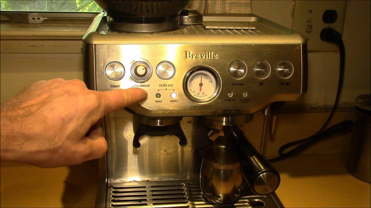 Breville Coffee Maker Grinder Not Working : Breville BES870XL - Grinder Adjustment - YouTube
