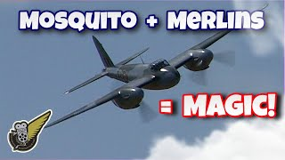 WW2 Mosquito Fighter Bomber Flybys - Awesome Merlin Sound