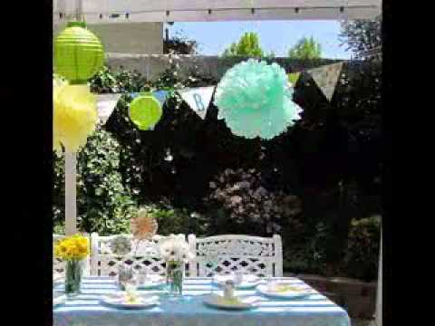 Outside baby shower decoration YouTube