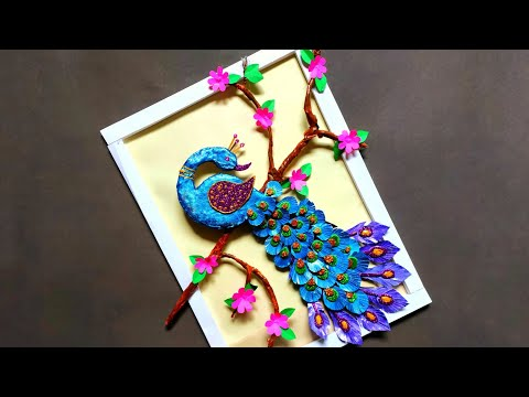 Peacock Wall Hanging | Unique & Creative Craft | Paper Craft | DIY | How To Make | By Punekar Sneha