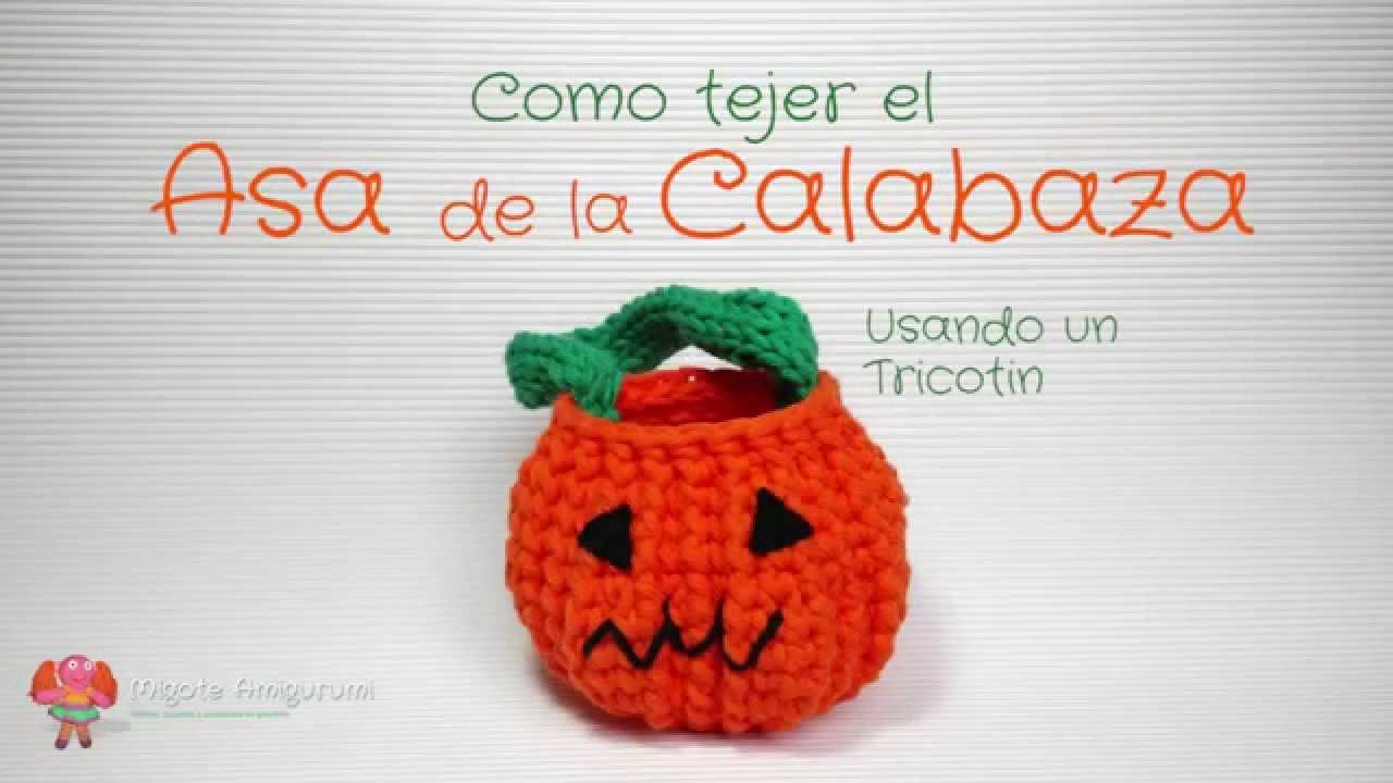 Patrón gratuito amigurumi: Lámpara Calabaza para Halloween - YouTube