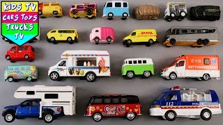 Vans And Mini Buses For Kids | Trucks For Kids | Street Vehicles |Kids TV Kindergarten | Preschool