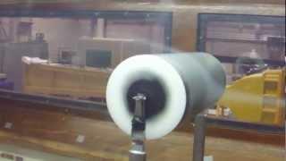 Magnus effect Smoke Flow