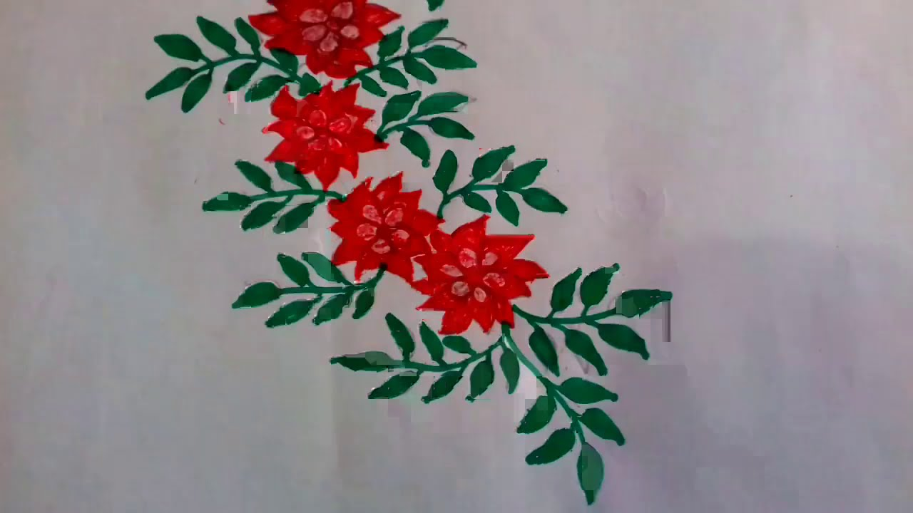 Beautiful flower Art with colour pen. How to draw artificial flower. DIY and craft idea.