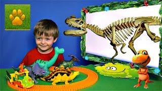 Детям про Динозавров Челлендж Угадай Скелет Динозавра Только ХИЩНИКИ Видео для Детей Lion boy