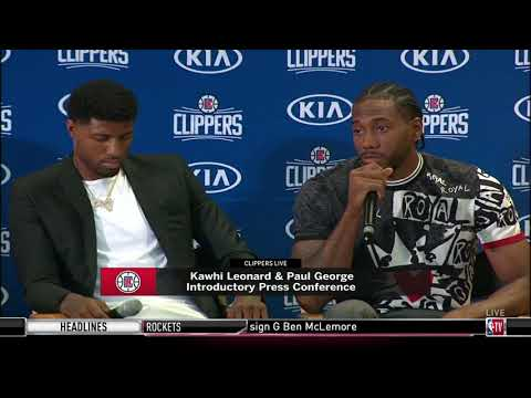 Kawhi Leonard Fires Back, Saying the Clippers Basketball is Better than the Lakers | July 24, 2019
