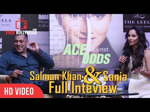 Salman Khan Full Interview with Sania Mirza | Ace Against Odds Book Launch