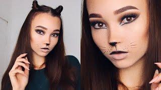 Кошачий макияж+Прическа | Хэллоуин 2016