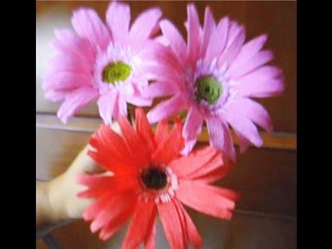 how-to-make-paper-flowers-gerbera-daisy-(flower-#-28)