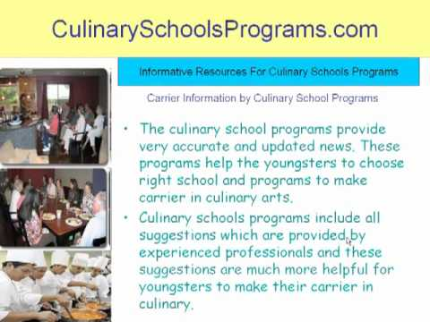 How to Make Carrier in Culinary Schools and Programs