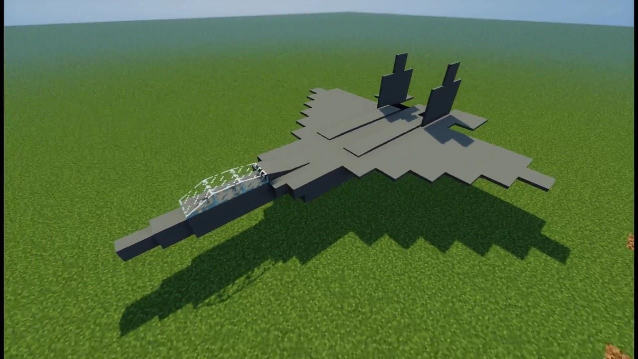 Minecraft F 22 Raptor And Mig 29 Youtube