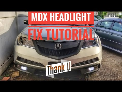 HOW TO FIX ACURA MDX HEADLIGHT STOPPED WORKING FIX TUTORIAL