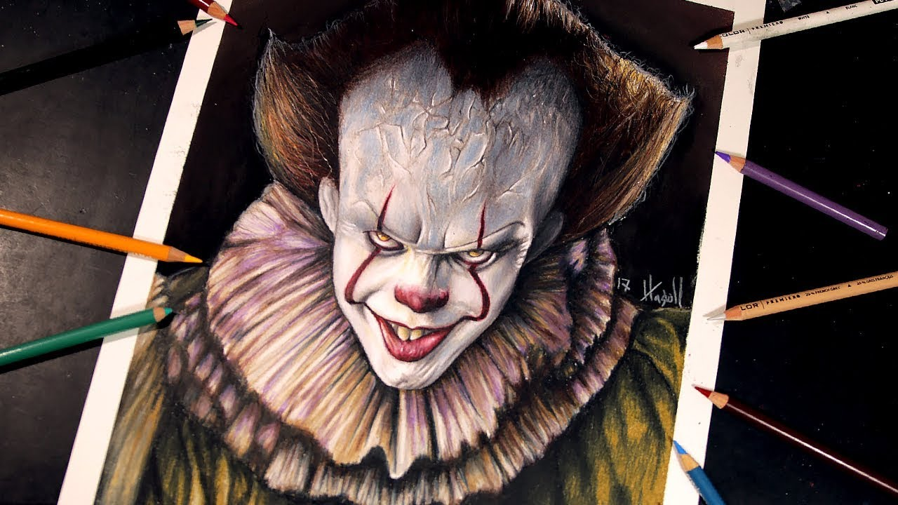 Como Dibujar A It Pennywise Drawing It Pennywise Youtube