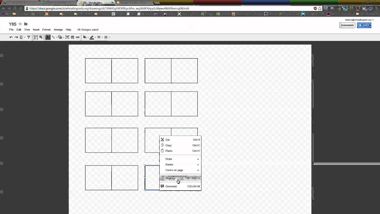 create a seating plan in google drawing youtube