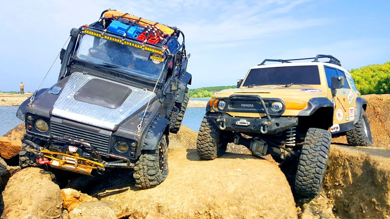 RC Cars Water SPA and Rock Crawling – Land Rover VS Toyota FJ Cruiser – HPI Venture | Wilimovich