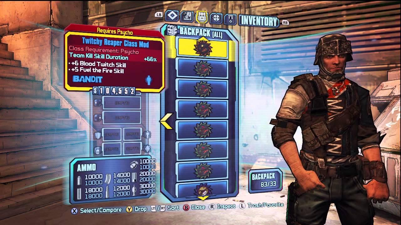 Borderlands 2 All Psycho Krieg Class Mods!