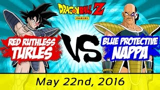 red ruthless turles vs blue protective nappa 5 22 16 arg kansas championship dragon ball z tcg