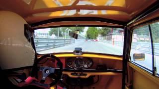 2012 GP De Pau burst tyre crash FIA Mini Cooper S historic