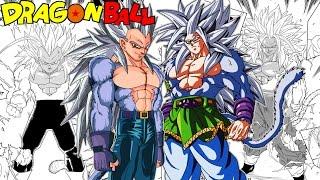 Dragon Ball EX Chapters 11 & 12: Evil SSJ5 Goku Vs SSJ5 Vegeta! Gokus Secret Plan (Fan Manga Review)