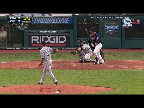 Gomes drives home the Indians' first run