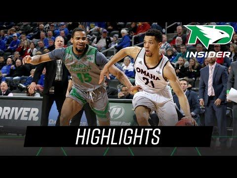 North Dakota Vs. Omaha | Highlights | UND Men's Basketball | 3/9/19
