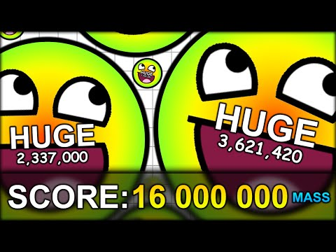 WORLD RECORD 16,000,000 MASS HUGE CELL (16 MILLION!) THE BIGGEST CELL EVER! (AGAR.IO #45): Join me and Double in today's video of the MOST ADDICTIVE GAME EVER EPISODE 45 - Agario. Today I modified the maximum amount of possible agario cell mass on our private server and we managed to hit a new high score of 16 000 000 or 16 MILLION mass! We were crazy big xD If you haven't heard of agar.io before - it's basically an online game in which you start out as a small dot and you can eat dots to become a bigger dot. It's an online multiplayer game tho, which means that there is other players doing the same which makes it quite difficult and... addictive :D  �м Subscribe for daily fun! http://bit.ly/SubscribeToBodil �м Want to watch more AGARIO? Here's the playlist! https://www.youtube.com/playlist?list=PL8N1jmcYZgQuy6UlzrUooxldT1XgfYK0e  �м Subscribe to Ryan!!: http://youtube.com/Mr360games  �м Follow me: 2nd Channel: http://youtube.com/bodil40Gaming Livestream: http://twitch.tv/bodil40 Twitter: http://twitter.com/bodil40 Facebook: https://www.facebook.com/bodil40  --------- �мIntro by MatrixFX: https://www.youtube.com/TheVisualVirtuoso/ �мIntro Music supplied by Monstercat: Nitro Fun & Sound Remedy - Turbo Penguin Video Link: https://www.youtube.com/watch?v=5tAsUGEqob4 Label Channel: http://www.youtube.com/monstercat �мBackground music by Kevin MacLeod (Latin sounds and others) http://incompetech.com/ �мMusic from the YouTube Audio Library �мMusic by D1ofAquavibe  http://www.youtube.com/user/D1ofAquavibe  iTunes: http://goo.gl/TOKj7r  Google Play: http://goo.gl/30qIS7