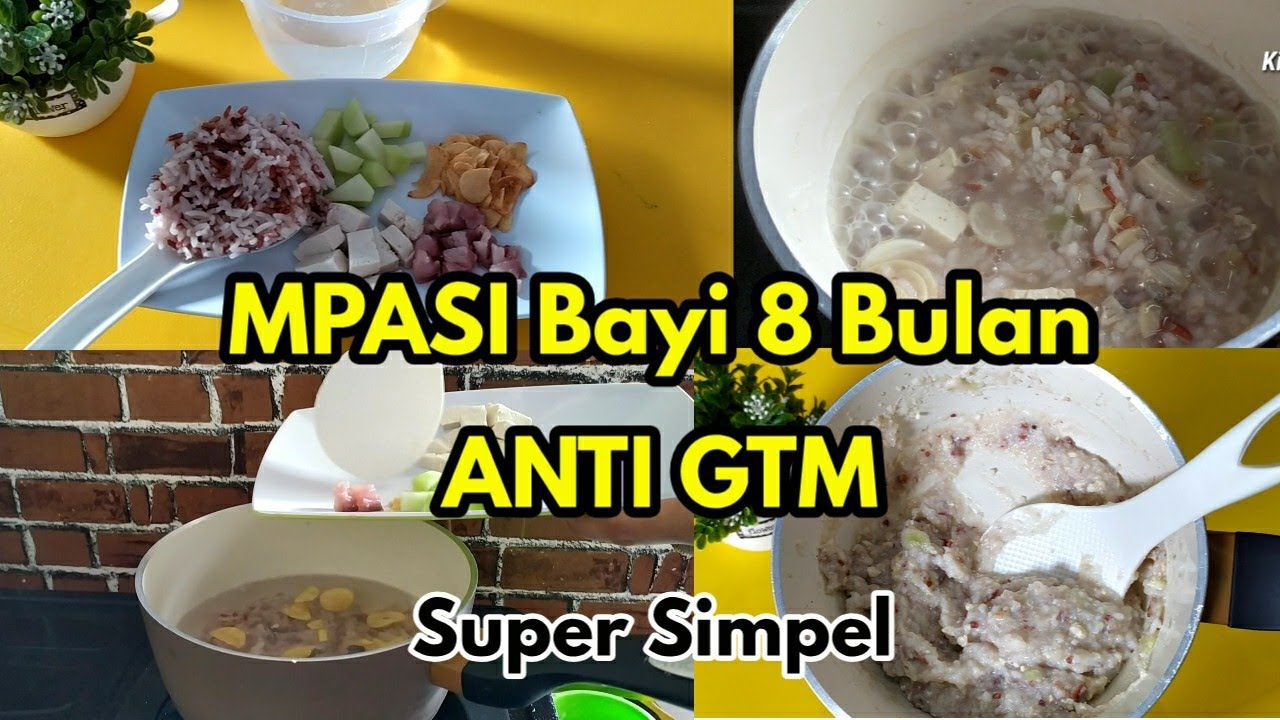 Resep Mpasi 8 Bulan Mpasi Anti Gtm Youtube