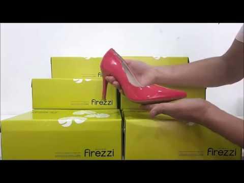 e53f09207 Scarpin Salto Médio Bico Fino Verniz Firezzi 187624 - YouTube