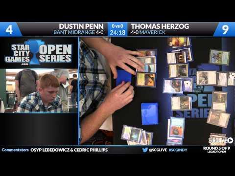SCGINDY - Legacy - Round 5 - Thomas Herzog vs Dustin Penn