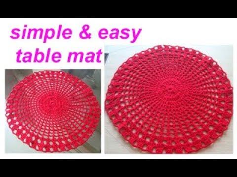 woolen table Mat/Thal Posh/Coster /Table cloth/chorchet area rug /TAPETE DE CROCHÊ FÁCIL hindi
