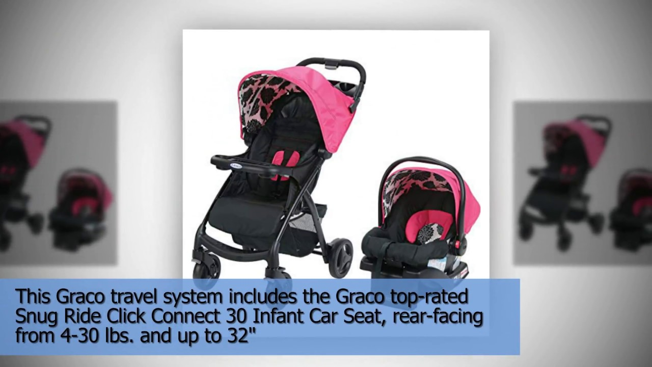 Graco Verb Travel System Stroller Azalea