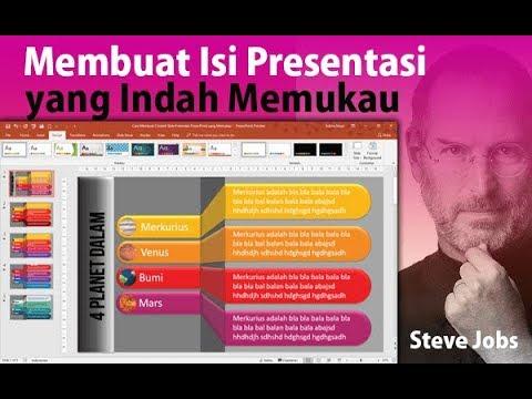 Cara Membuat Isi Presentasi PowerPoint Yang Indah Dan Memukau