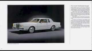 1980 Lincoln Continental Town Car Brochure