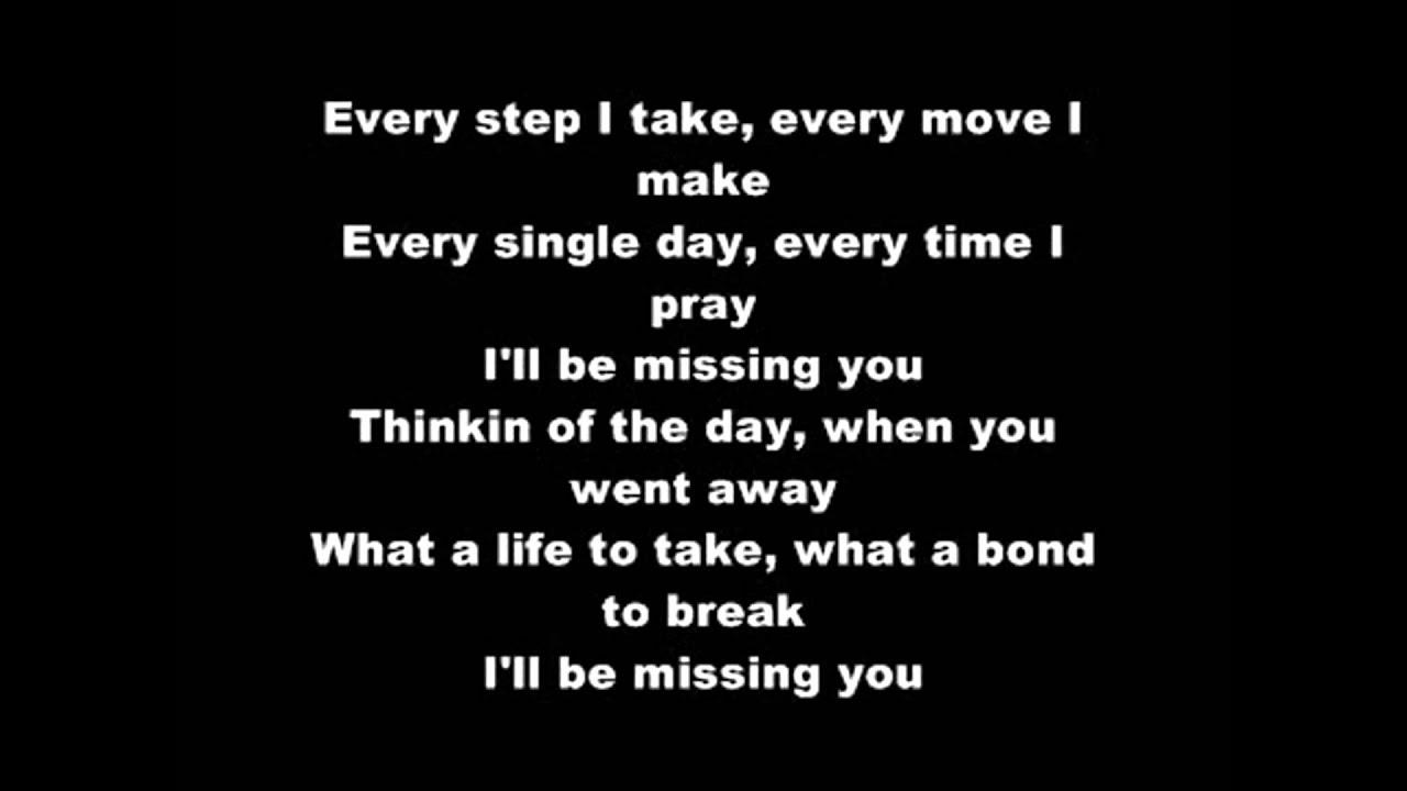 Puff daddy i ll be missing you lyrics youtube