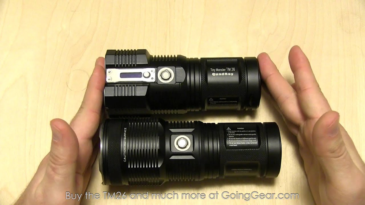 NItecore Tiny Monster TM26 Quadray 3500 Lumen Flashlight ...