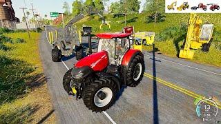 트랙터 트럭 중장비 포크레인 도와주기 게임 플레이 Tractor Truck with Excavator Car Game Play