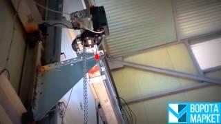 видео Промышленные секционные ворота