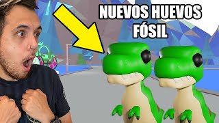 LOS HUEVOS FÓSIL SE ACERCAN A ADOPT ME ROBLOX!! REGALANDO ROBUX CON @Futura