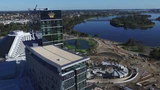 crown towers perth australia aerial drone video 5 2016
