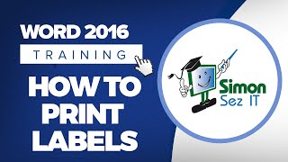 How to Print Labels in Microsoft Word 2016
