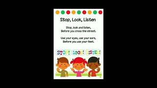 A poem song - Stop, look and listen