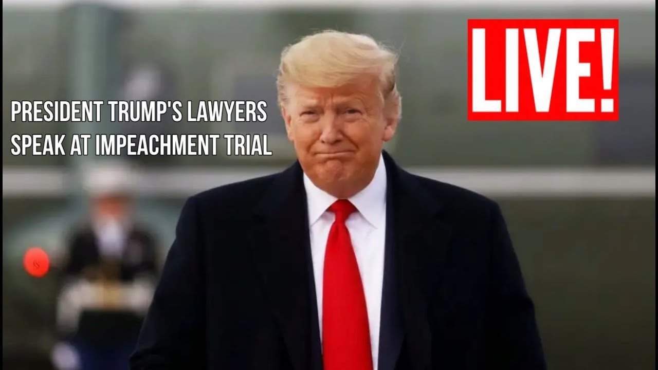 ????LIVE: President Trump DEFENSE Team Speaks at Senate Impeachment Trial